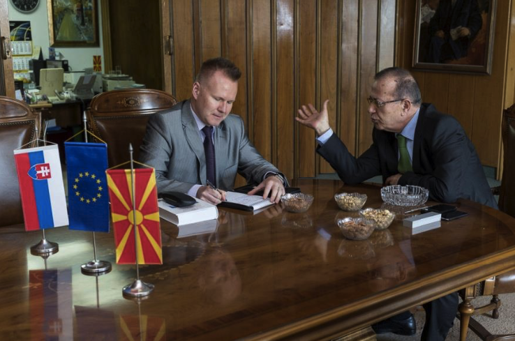 Средба на претседатлот Таки Фити и амбасадорот на Словачка Мартин Безак